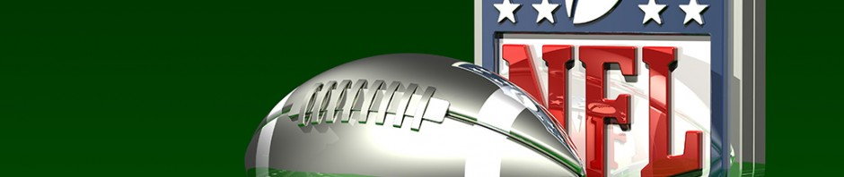 Silver Football and NFL Logo